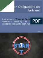 Partnership Daily Quiz-Obligations of Partner