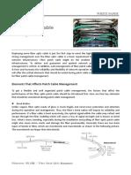 Fiber Patch Cable Management