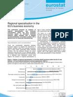Regional specialisation in the EU's business economy