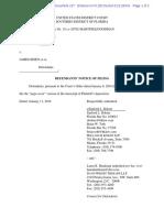 Montogmery v. Risen #227 d Notice Re Filing of Montomgery Deposition