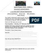 island project 2016 planning sheet