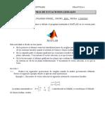 Practica 5. Sistemas de Ecuaciones Lineales