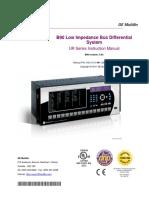 GE Protection relay B90 Manual