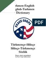 Turkmence Ingilizce we Ingilizce Turkmence Dictionary Sozluk (1)