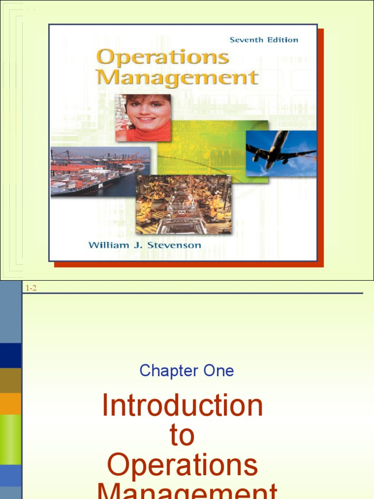 Operations Management by William j Stevenson (2) | Operations Management |  Supply Chain