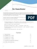 hyperbolicfunctions defination in mathematics