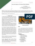 Design, Modification and Analysis of Concrete Mixer Machine