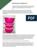 Cara Paling Tepat bagi Pemasaran Tupperware