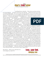 Fathers Love Letter 2014 A4