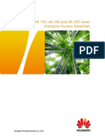 HUAWEI AR120 AR150 AR160 and AR200 Series Enterprise Routers Datasheet