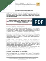 Anuncio Convocatoria - Bases Peon Servicios Multiples