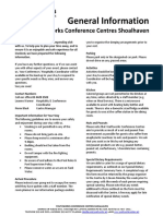 Shoalhaven Conference Centers General Info 2015
