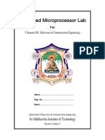 Advanced Microprocessor Lab Manual
