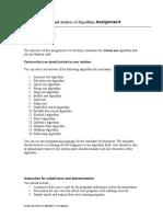 DAA Assignment 2014