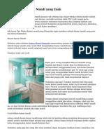 Tips Desain Kamar Mandi yang Enak
