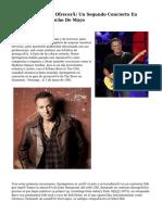 Bruce Springsteen Ofrecerá Un Segundo Concierto En Barcelona El dieciocho De Mayo