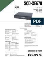 SCD-XE670 Service Manual