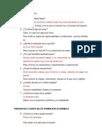 Entrevista Laboral Completa Garrotero y Mesero