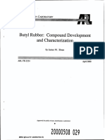Butyle Rubber - Compound Development & Characterisation