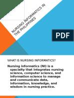 Nursing Informatics in the Philippines
