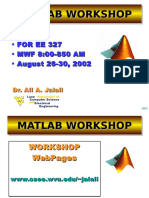 MATLAB Workshop Lecture 2