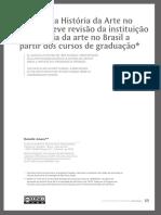 O Lugar Da História Da Arte No Brasil