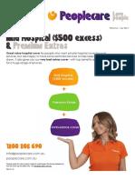 Mid Hospital 500 Excess Premium Extras