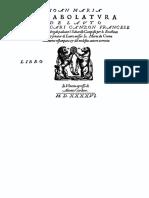 Intabolatura de Lauto Giovanni Maria Da Crema