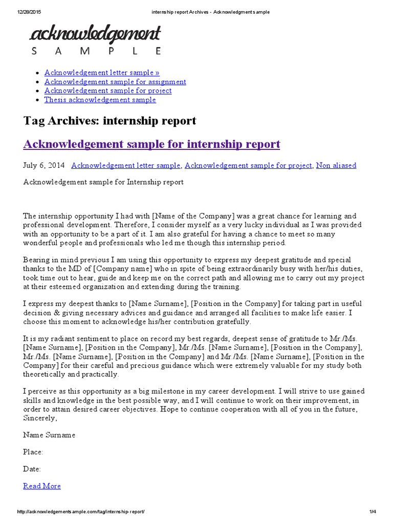 Internship report archives acknowledgment sample thesis internship report archives acknowledgment sample thesis internship altavistaventures Choice Image