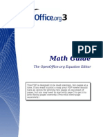 Open Office - Math Guide