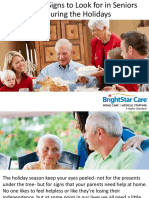 Important Signs to Look for in Seniors During the Holidays