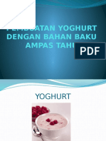 Pembuatan Yoghurt Dengan Bahan Baku Ampas Tahu