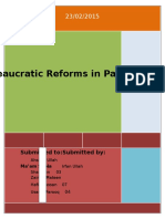 Bureaucratic Reforms in Pakistan