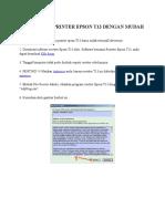 Cara Reset Printer Epson t13 Dengan Mudah