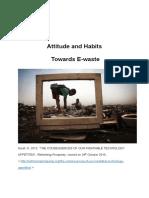 Attitude and Habits of E-waste