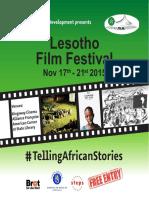 Lesotho Film Festival Booklet