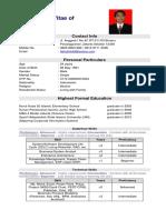 Curriculum Vitae - Fathul Hilal