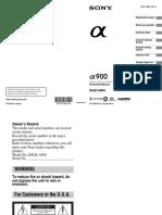 Sony DSLR-A900 Instruction Manual
