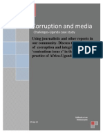 corruption and media issues