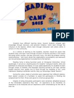 reading camp documentation