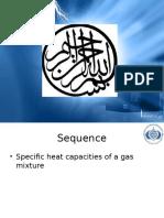 Specific heat capacity of Gibbs Dalton law