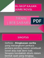 Aspek Kajian Novel Tirani