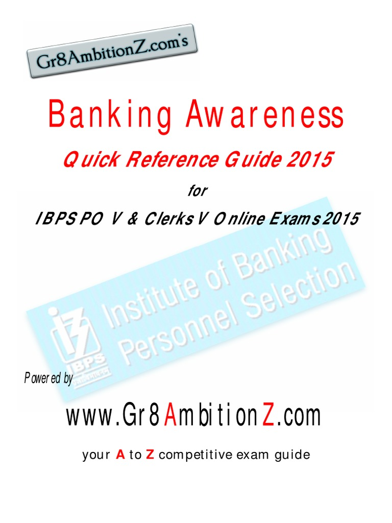 banking awareness quick reference guide 2015 pdf reserve bank of rh scribd com Bank Exam Funny SBI Bank Exam Details