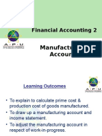 FA 2 Chapter 11 Manufacturing Accounts