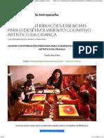 Quatro Contribuições Essenciais Para o Desenvolvimento Cognitivo Artístico Da Criança (BVA)