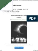 Rudolf Steiner - A Memória e a Consciência Moral (BVA)