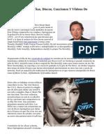 Biografia, Fotografías, Discos, Canciones Y Vídeos De Bruce Springsteen