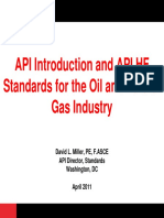 API Introduction and API HF Standards Overview - April 2011