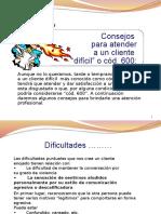 Clientes Cod 600 - Herramientas de Negociacion