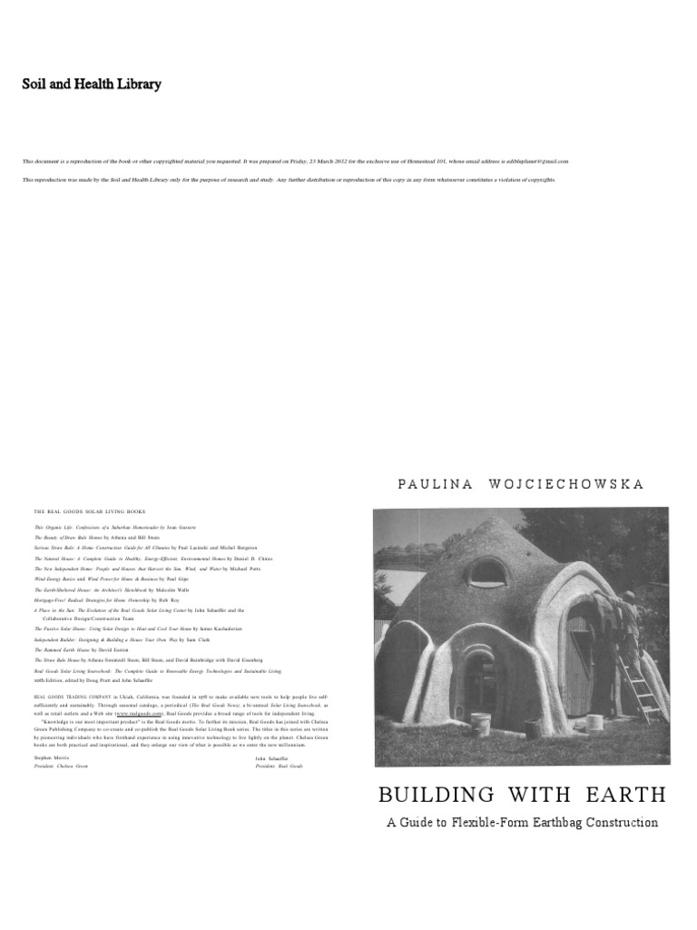 Building With Earth A Guide To Flexible Form Earthbag Construction Electrical Rough In Wiring Of Earthship Tire Walls Pictures Pin On Clay Materials
